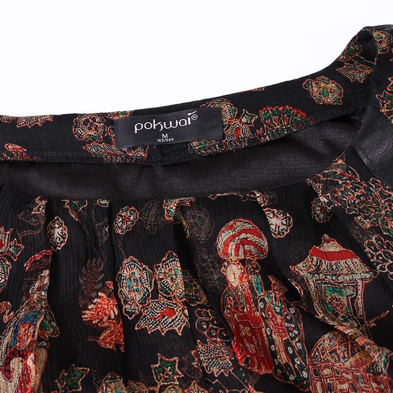 Complète En Qualité Haute Vacances Mode Imprimer Robe Automne Femelle Longue Soie Cuir Femmes Spliced Manches rwvxXwdp