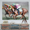 Decorative Abstract Poster Horse Racing Portrait Wall Art Canvas Oil Painting For Living Room Wall Jockey