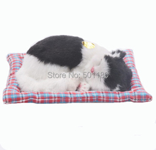 free shipping birthday gift  handmade sleeping animal cat toy with bark for gift and decoration free shipping sleeping beauty figure resin toy vivid lifelike angel girl cake home office car decoration christmas birthday gift