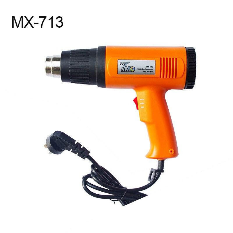 Outils d'emballage de voiture Orange 1500 W pistolet à chaleur de qualité pour le chauffage de Film de vinyle MO-713