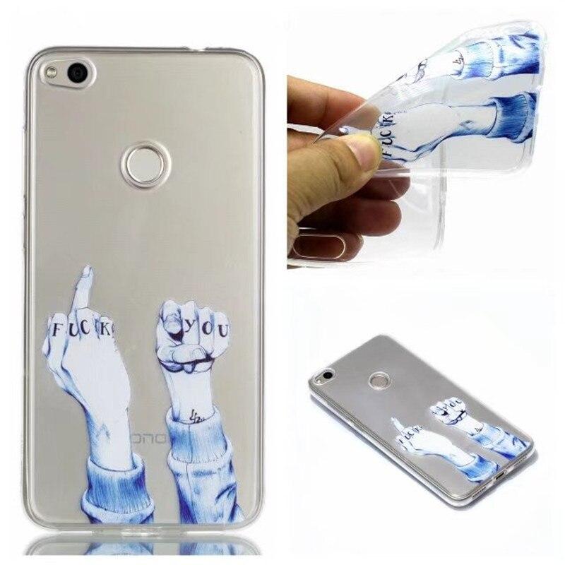ᗐ TPU Case For Coque Huawei P8 Lite 2017 Soft Slim Transparent ...