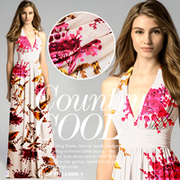 plant flowers burnt-out gauze mulberry silk fabrics fashion dress shirt