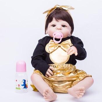 Lovely Dolls for Babies Sleep Accompany Toys Best Birthday Gifts Lifelike Girls Dolls Full Silicone Fashion Education Dolls