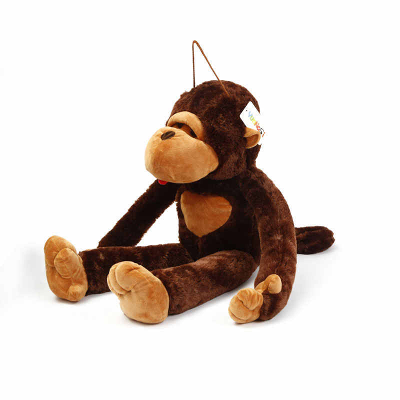 YunNasi 80 см большая обезьяна куклы животных плюшевый орангутан игрушки мягкая подушка чучела Горилла подарок на день Святого Валентина девочки дети игрушки