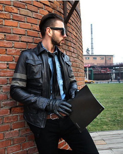 Фабрика 2016 Новинка Resident Evil M65 тонкий первый Слои из кожи Для мужчин сафари Стиль кожаная куртка мотоцикла jaqueta couro