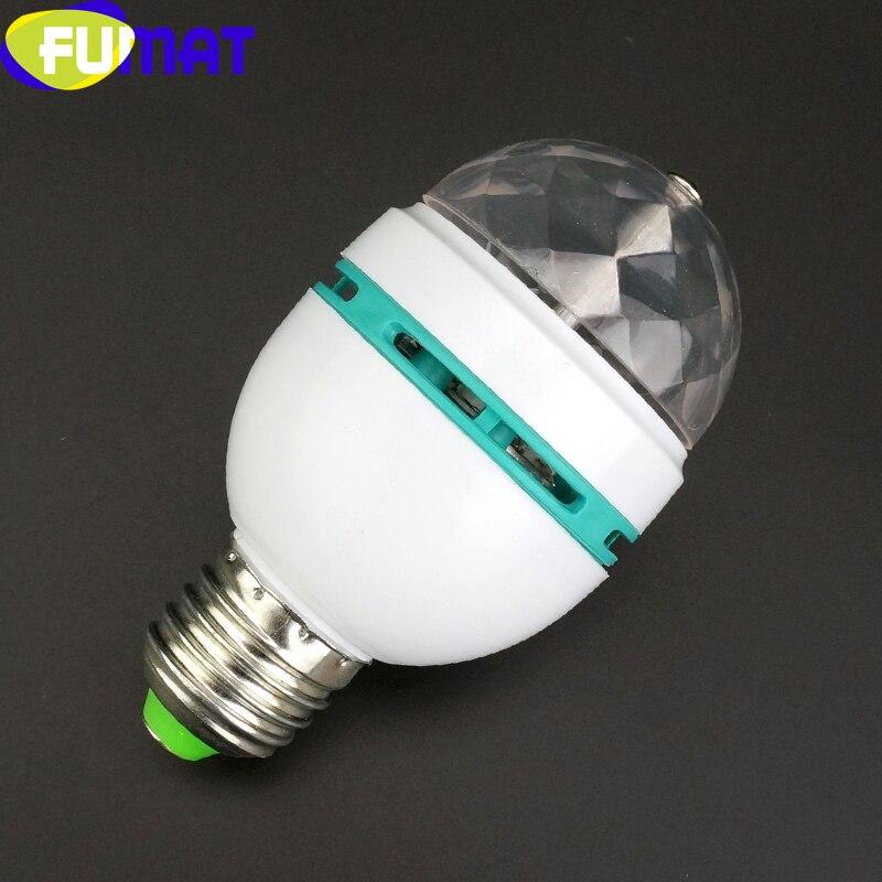 100% Quality Fumat 3w Stage Lights E27 Magic Colorful Led Light For Bar Ktv Led Beam Lamp Plug Adapter Convert To E27 Led Light Lamp Bulbs