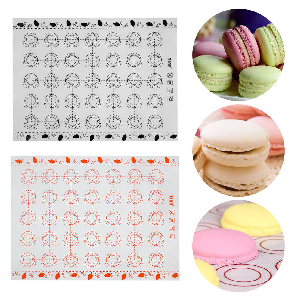 Kitchen,dining & Bar Home & Garden 1pc Non-stick Silicone Baking Mat Rolling Dough Mats Glass Fiber Macaron Oven Liner Pad Cake Cookie Baking Pastry Tools Choice Materials