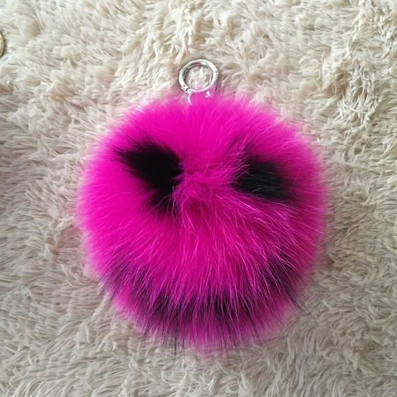 Cute 15cm Smile Love Real Fox Fur Keychain Fluffy Heart Fur Ball Keychain Fur Pompom Key Chain Pompon Keyring Charm Bag Pendant 10cm real fox fur ball keychain on the keys fluffy real fur pompom car for couples fur ball key chains fur cap beanie