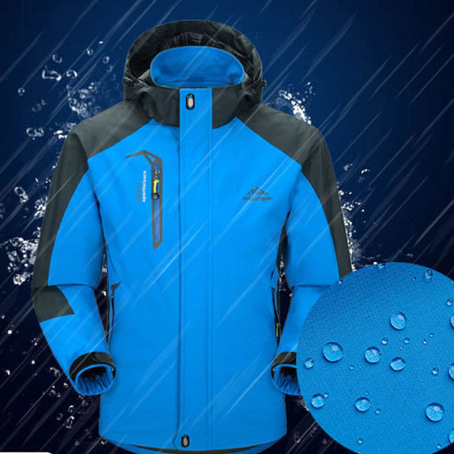 2018 New Spring Autumn Mens Softshell Hiking Jackets Male Outdoor Camping Trekking Climbing Coat For Waterproof Windproof VA002 4