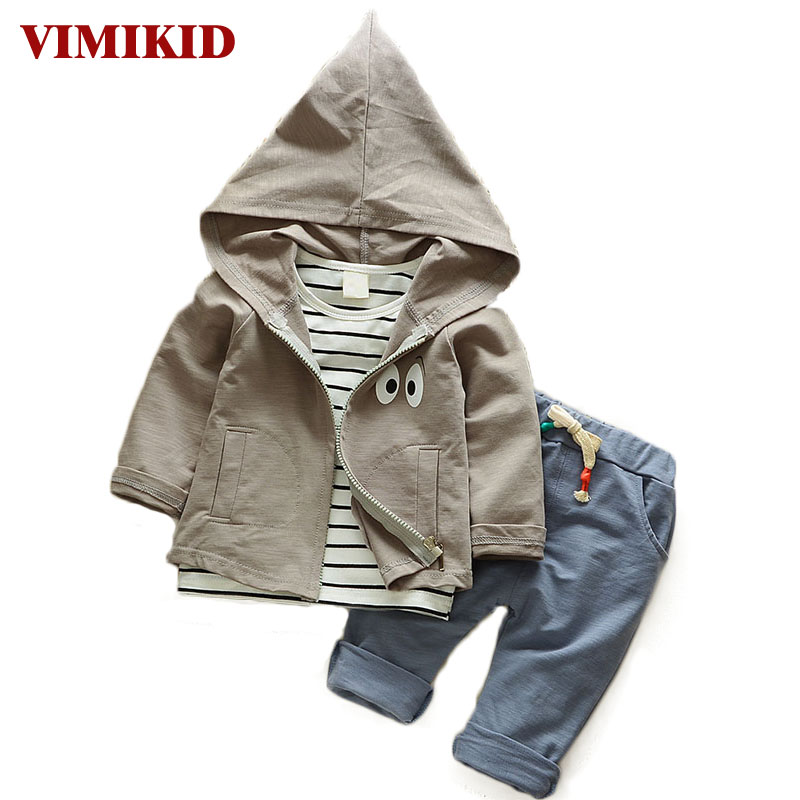 baby clothing set cotton autumn hoodies + pants + t-shirt 3 pieces children outerwear kids clothes suit 2 years newborn outfits
