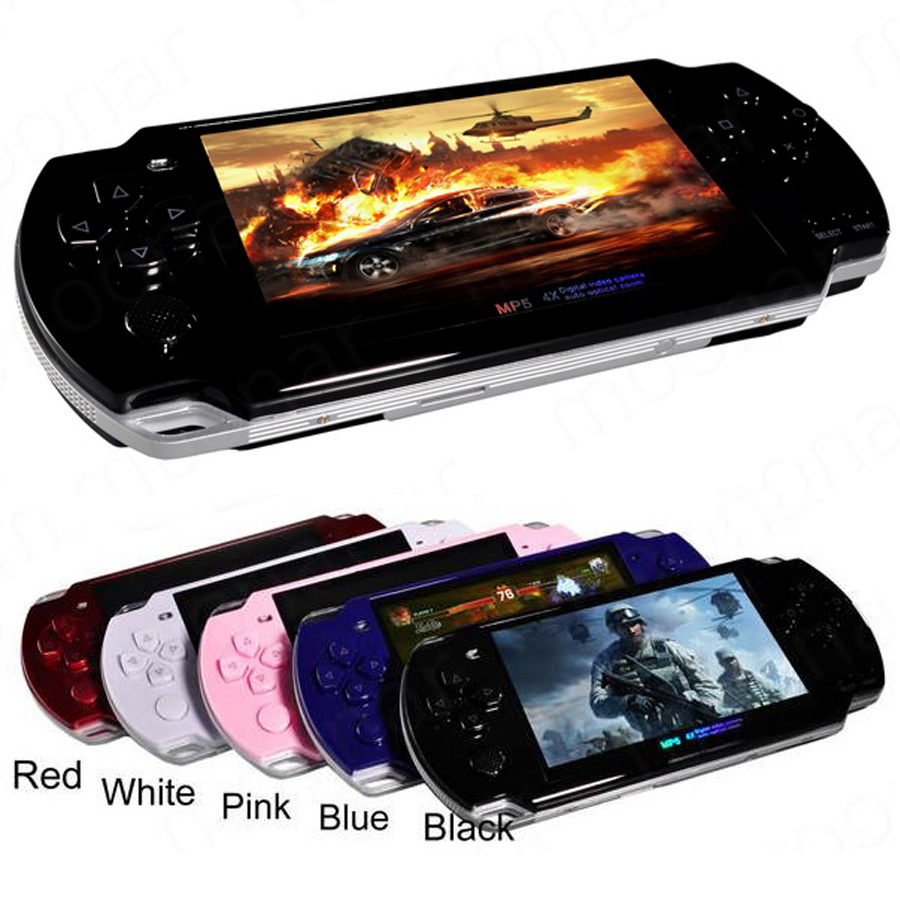 Built-in 5000 games Support AV Out 8GB 4.3 Inch PMP Handheld Game Player MP3 MP4 MP5 Player Video Camera Portable Game Console(China)