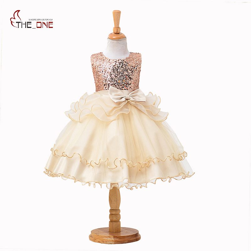 MUABABY Summer Girls Princess Dresses Children Kids Sequined Sleeveless Layered Dress Party Ball Gown Girl Tulle Wedding Clothes