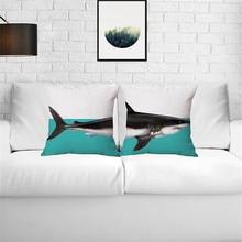 wholesale wedding pillow cover Creative gift Split Shark Elephant Whale Dinosaur Decor cushion cover home decorative pillow case