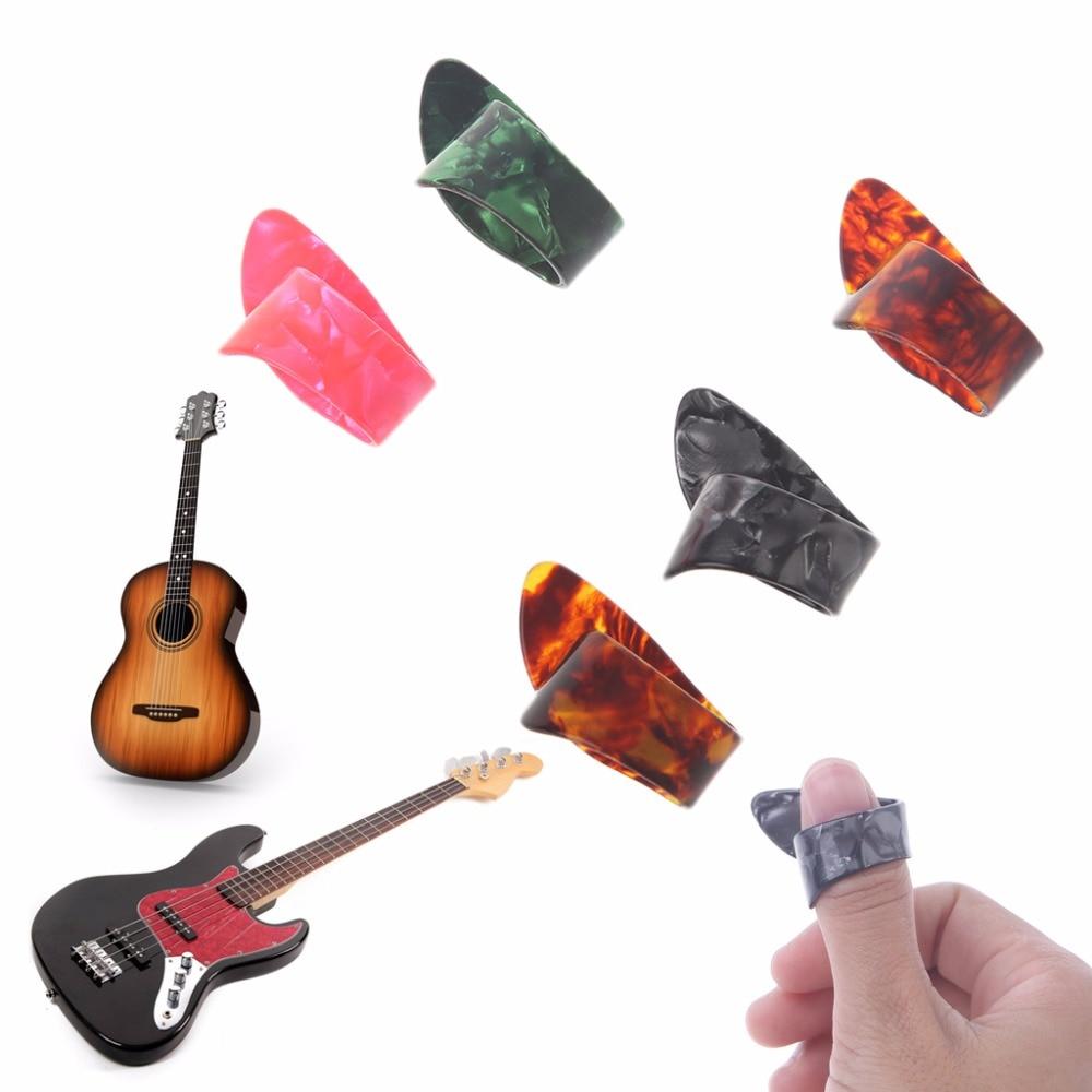 1 шт. целлулоид Гитара Thumb Палочки Plectrums гитара Пластик Горячая распродажа!