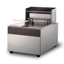 Electric deep fryer Single tank frying oven stainless steel 6lliters 220v 50hz