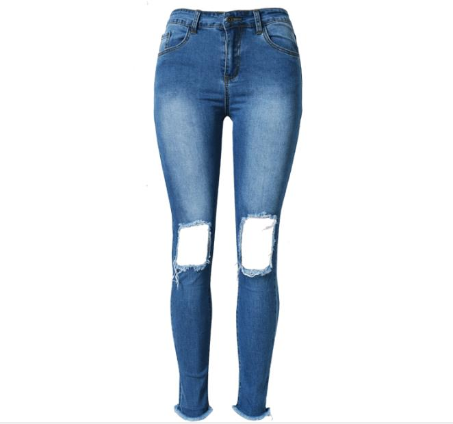WYWAN 2019 Women's Mother Jeanes High Waist Jeans Women High Elastic Jeans Stretch Washed Denim Skinny Jeans Female Pencil Pants