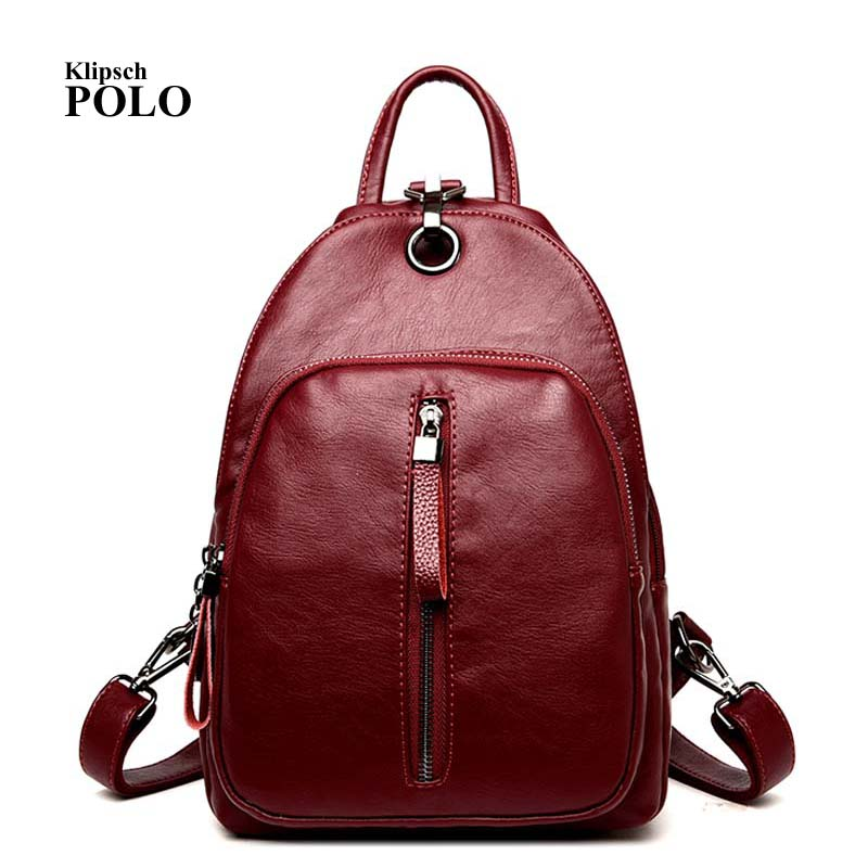Women Bag Backpacks Female Genuine Leather Backpack Women School Bags For Teenagers Girls Travel Mochila Femininas 2016new rucksack luxury backpack youth school bags for girls genuine leather black shoulder backpacks women bag mochila feminina