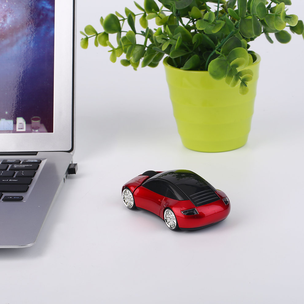 10pcs RED Creative 2.4GHZ Wireless Car Shape Mouse 1600DPI Wireless Optical Mouse Mice недорго, оригинальная цена