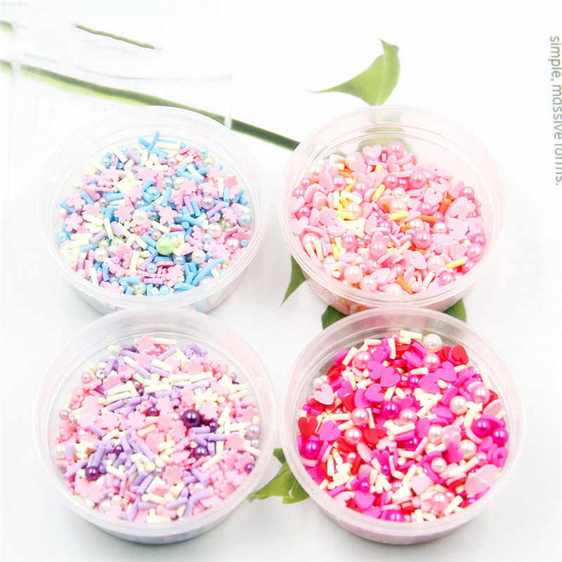 20g/box Charms for Slime Supplies Kit Fluffy Slimes Colorful Candy Pearl Polymer Clear Slime Accessories Putty Clay Nail Art