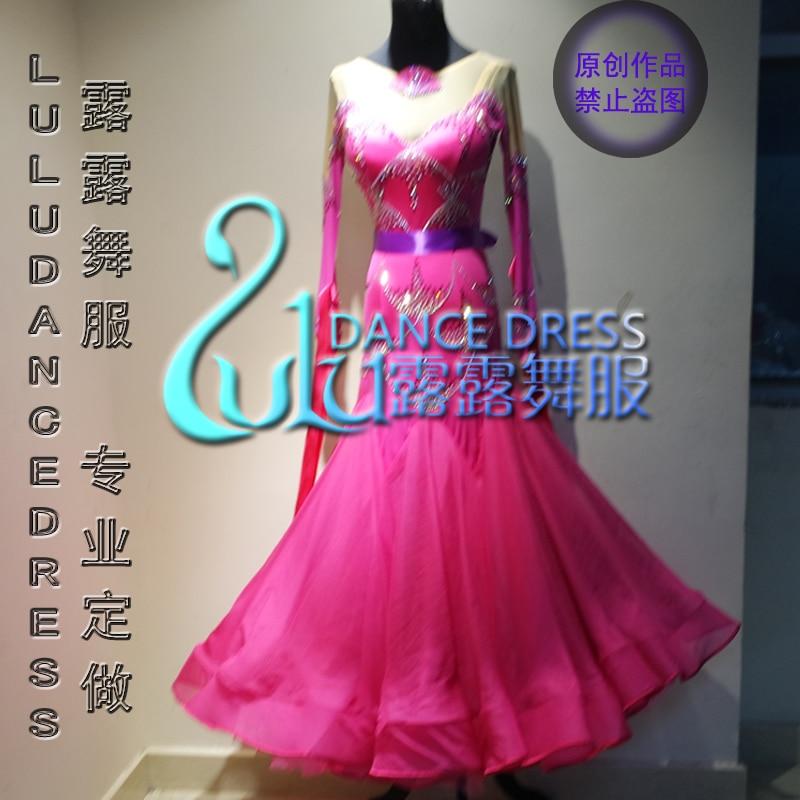 Modern Waltz Tango Ballroom Dance Dress Competition Latin dance dress,tango salsa samba dance Green and red dance dress