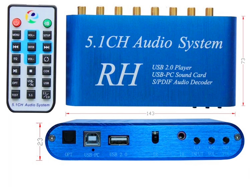 цена AL36 USB Digital Sound/Media Player,5.1CH Audio System,DTS/AC3 S/PDIF Audio Decoder for 5.1 channel amplifier онлайн в 2017 году