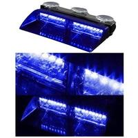 16 LED Car Police Flash Strobe Light Flash Light Dash Emergency 18 Flashing Lamp Blue Red