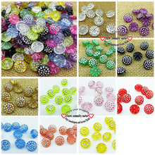 100PCS 13MM white Acrylic Rhinestone buttons coat boots sewing clothes accessories  sweater button R-080-11