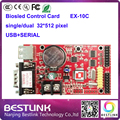 led controller card biosled ex-10c 32*512 pixel single color led control card diy kit p10 electronic led sign open sign taxi top