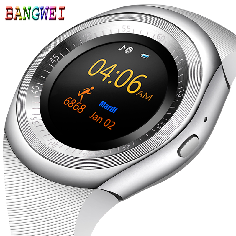 BANGWEI Smart Watch 2018 Round Support SIM TF Card With Whatsapp And Facebook For Android IOS Phone Men Women Smartwatch Relogio z50 smart watch phone bluetooth3 0 connected with camera support sim card tf card smartwatch for ios and android smartphone