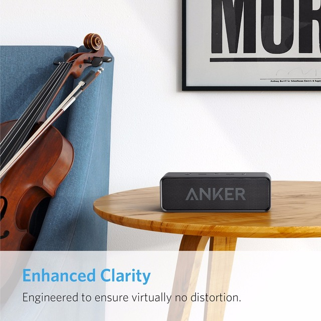 Anker Soundcore Portable Wireless Bluetooth Speaker with Dual-Driver Rich Bass 24h Playtime 66 ft Bluetooth Range & Built-in Mic 3