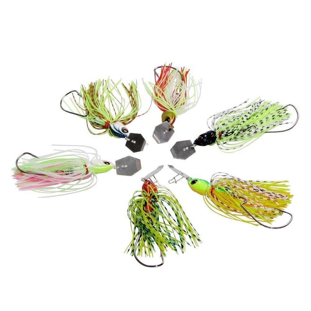 Hyaena 6pcs/lot Chatterbait 18g Jigs Spinner Bait 3D Eyes Fishing Lure Wobbler Spinner Lure for Bass-2