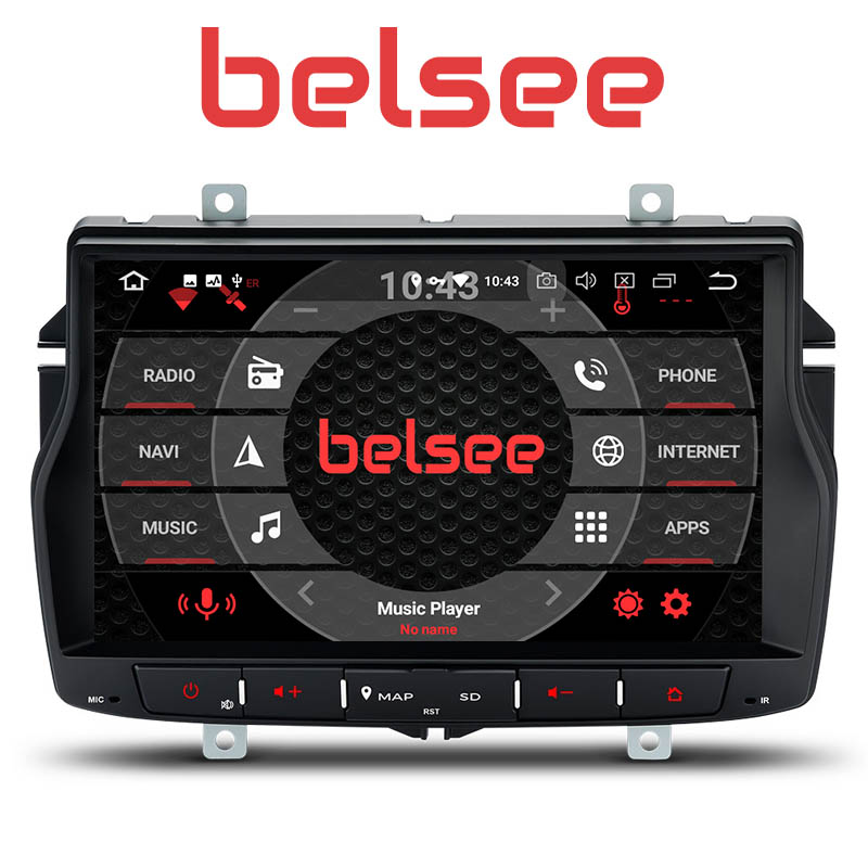 Belsee Android 8.0 Car Radio Octa Core PX5 Touch HD Screen GPS Navigation Auto Stereo Head Unit Multimedia No DVD for Lada Vesta image