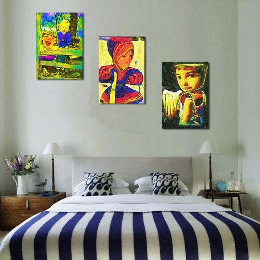 3 Pieces modern HD print figures oil painting on canvas abstract figures oil painting home decoration for living room or bedroom in Painting Calligraphy from Home Garden