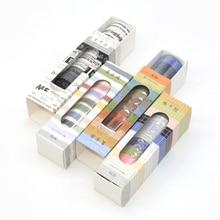 10 Pcs Washi Tape Grid Wash Vintage Washitape Cinta Adhesiva Decorativa Stickers Scrapbooking Decorado Lot Paper Adhesive