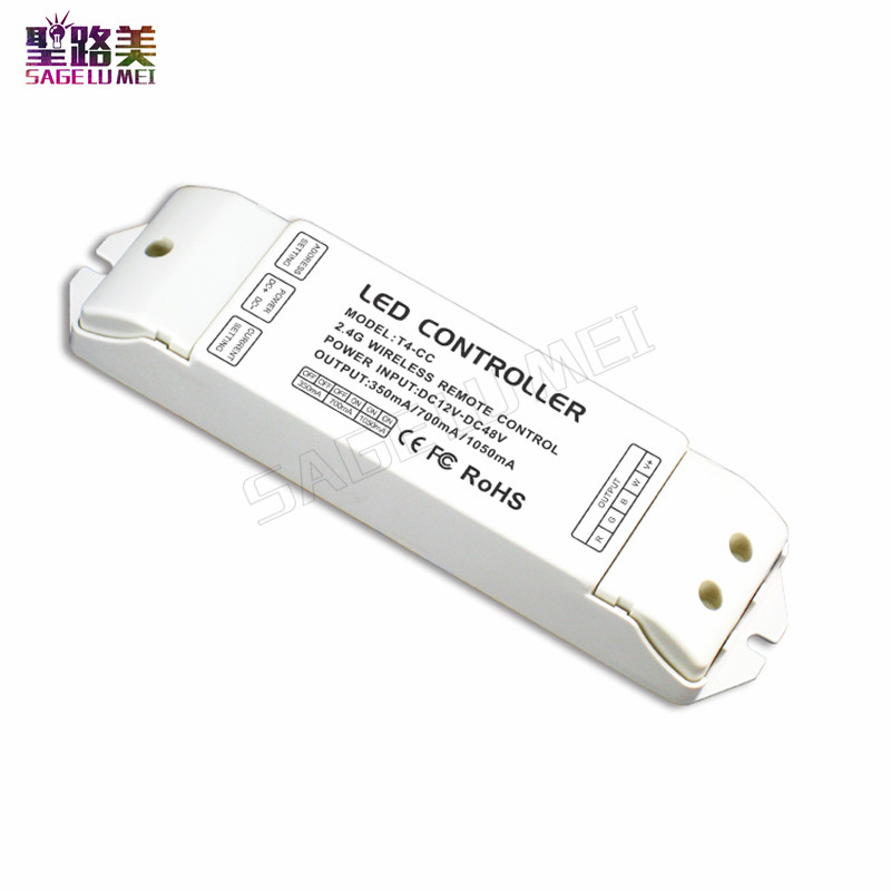 T4-CC Receiver controller 2.4G Wireless Remote constant current LED Current Suitable for T4 Remote Control Free shipping t4 cc receiver controller 2 4g wireless remote constant current led current suitable for t4 remote control free shipping