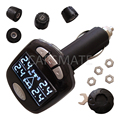 TPMS car tire pressure monitoring system with 4 external sensors High quality TPMS for safety Support BAR and PSI