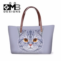 Summer Handbag Cat pattern for girls Female Large Shoulder Bags Big Animal printed Waterproof Beach Bags Hand Bag for Ladies