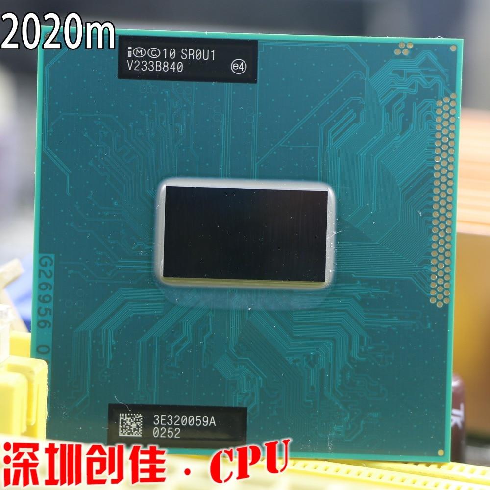 D'origine Intel Pentium Dual-Core Mobile cpu processeur 2020 M 2.4 GHz L3 2 M Socket G2/rPGA988B scrattered pièces SR0U1