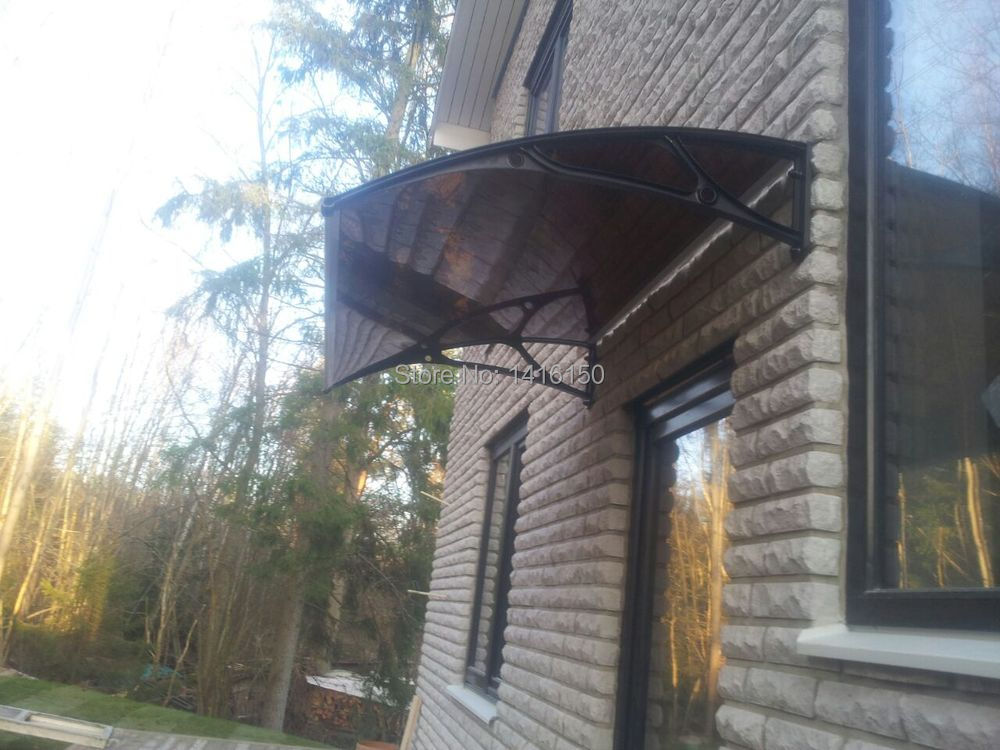 HOW TO SEND THE OUTDOOR CANOPY ? & DS60100 Pplastic bracket diy window awningwith UV coated ...