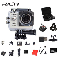 RICH Action Camera 1080P 140D Full HD 2 30M Waterproof Outdoor Mini Cam 1920 1080 Go