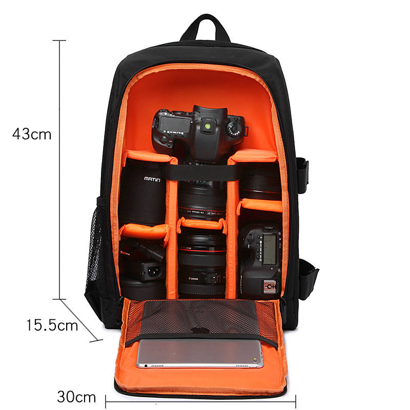 Waterproof DSLR Camera Bag Photo Backpack For Panasonic GX80 GX85 Olympus EM5 EM10 FUJIFILM XT20 X-T2 Sony alpha Nikon Canon Bag dslr camera photo backpack divider insert padding bag 15 laptop pack for canon nikon sony pentax fujifilm with tripod holder 30