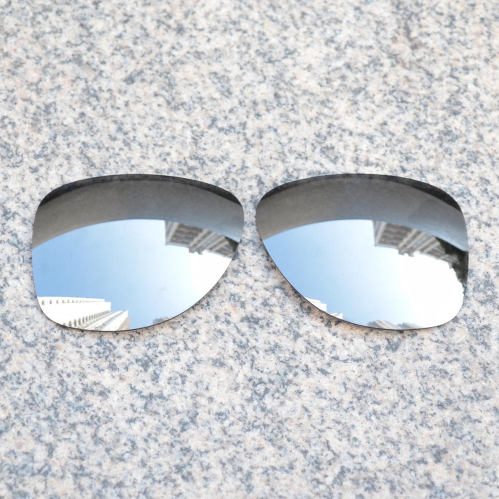 Wholesales E.O.S Polarized Enhanced ReplacementLensesforOakleyDispatch 2 Sunglasses - Silver Chrome Polarized Mirror
