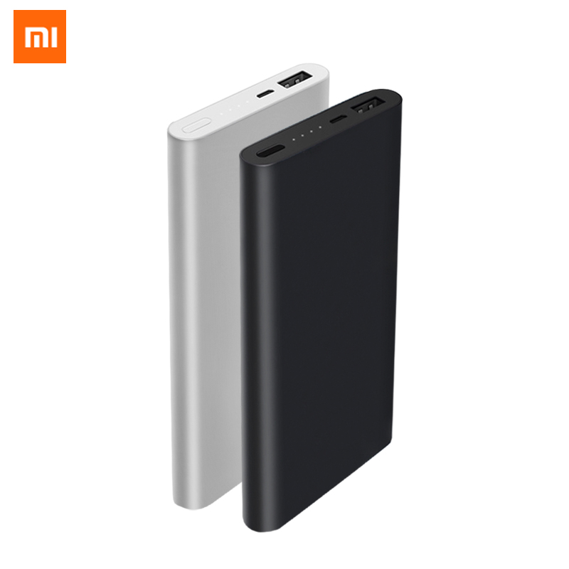 For Xiaomi Power Bank 2 Mi 10000mAh Quick Charge Powerbank Lithium Polymer External Battery Portable Ultrathin