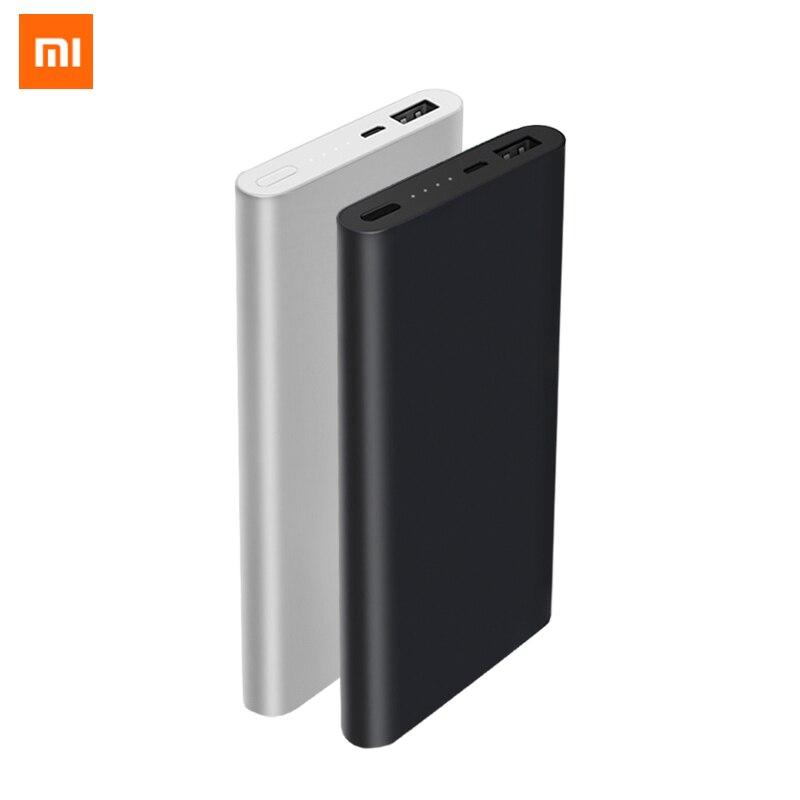 Original xiaomi Power bank 2 Mi 10000mAh Quick Charge Powerbank Lithium polymer external battery Portable Ultrathin