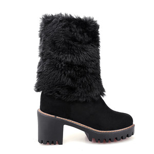 Image 3 - MORAZORA 2020 new arival winter warm snow boots women round toe ankle boots faux fur comfortable platform shoes ladies booties