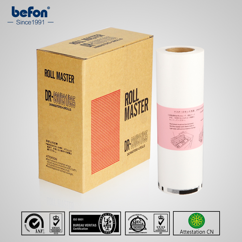 befon Master Roll DR830 831 835 A4 for DUPLO DP21S  2 rolls/box