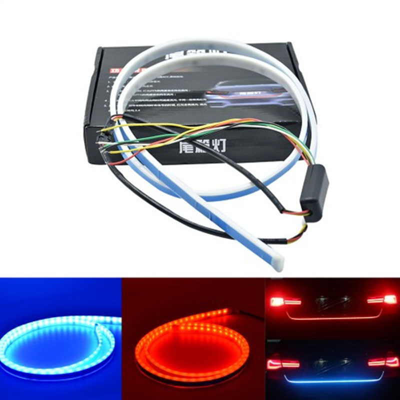 Car LED Strip Lighting Rear Trunk Tail Light Dynamic Streamer Brake Turn Signal Reverse Leds Warning Light Signal Lamp1.2M1.5M hot sales for yamaha r1 fairings yzfr1 2007 2008 yzf r1 yzf r1 yzf1000 r1 07 08 red black abs fairings injection molding