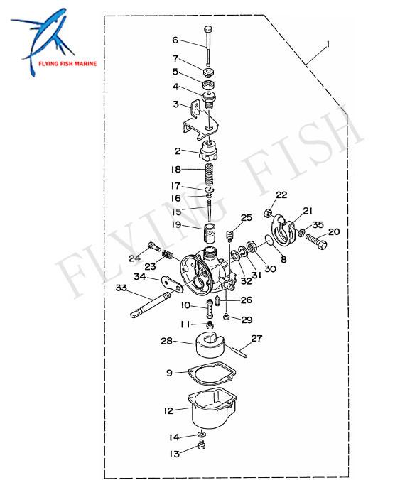 6A1-W0093-01-00 6A1-W0093-00 Boat Carburetor Repair Kit