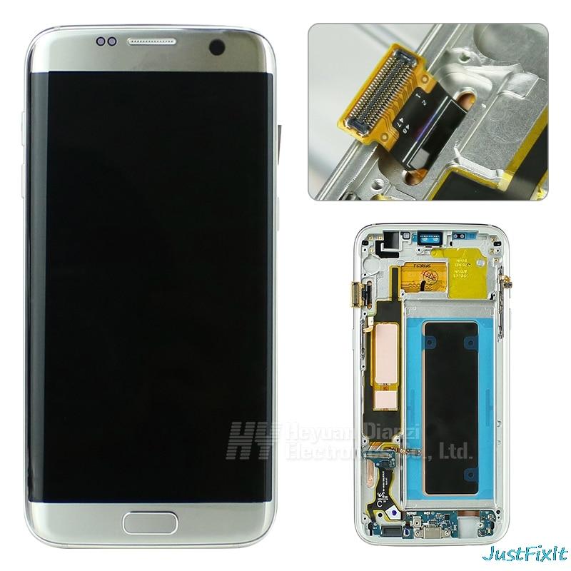 Lcd Touch Screen Digitizer Frame Voor Samsung Galaxy S7 Rand G935F G935FD Opladen Dock Kabel Home Button Met Back case