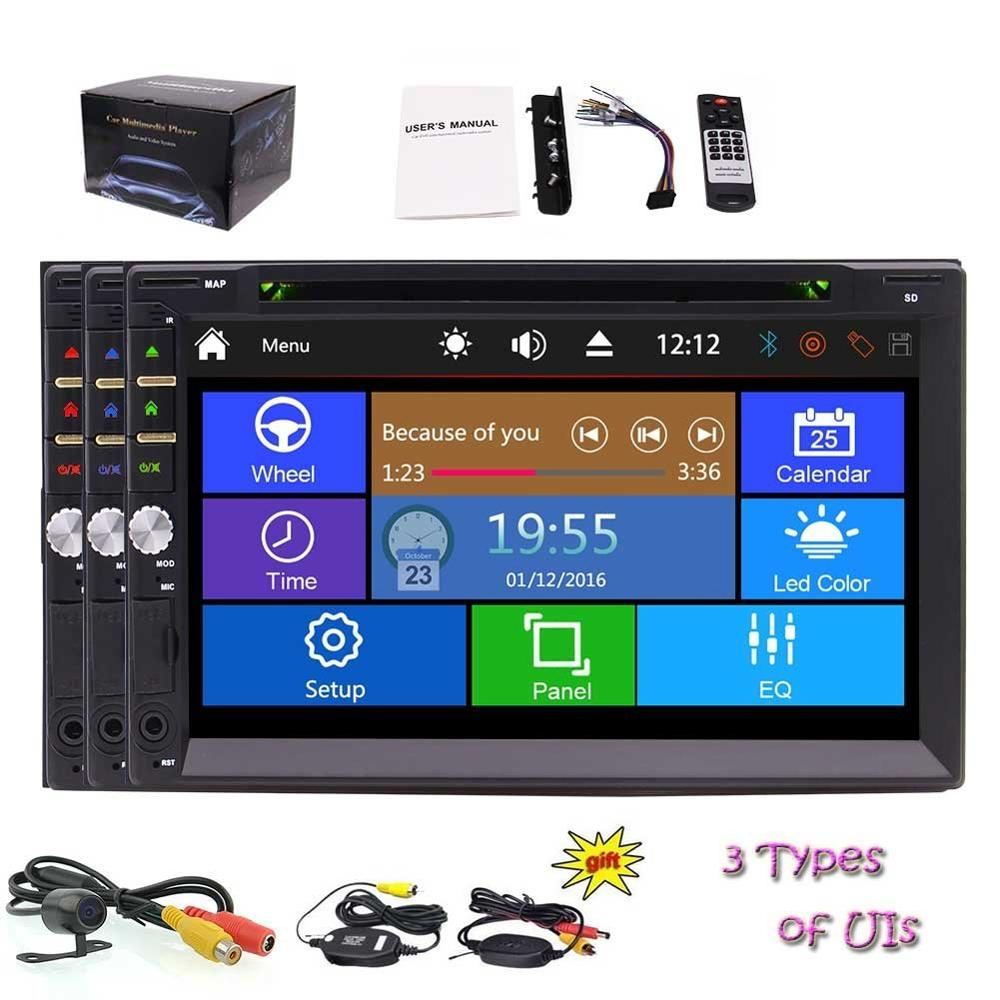 Eincar Double 2 din Vehicles Car DVD Player in Dash Stereo Audio Video Bluetooth SD USB